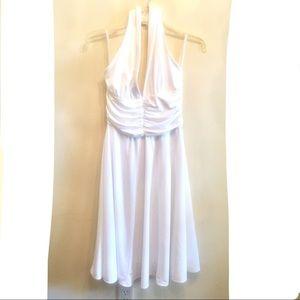 {WHBM} Marilyn Monroe White Halter Dress